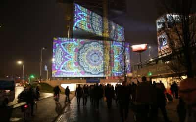Projection Mapping on Glass
