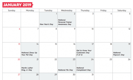 Free Template: 2019 Small Business Marketing Calendar