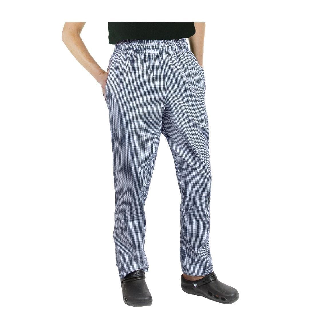 Chef Works Essential Baggy Pants Small Blue Check S