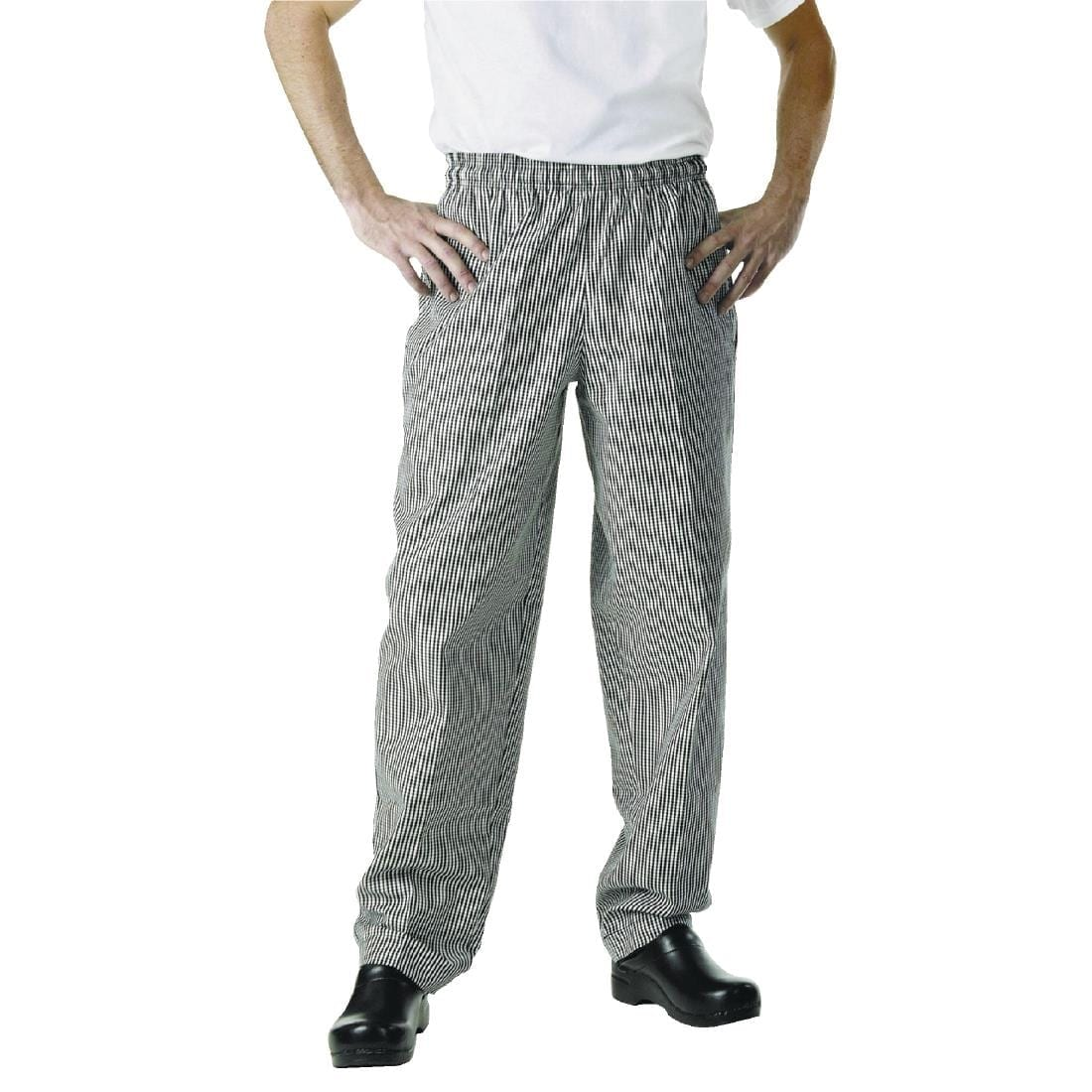 Chef Works Essential Baggy Pants Small Black Check XL