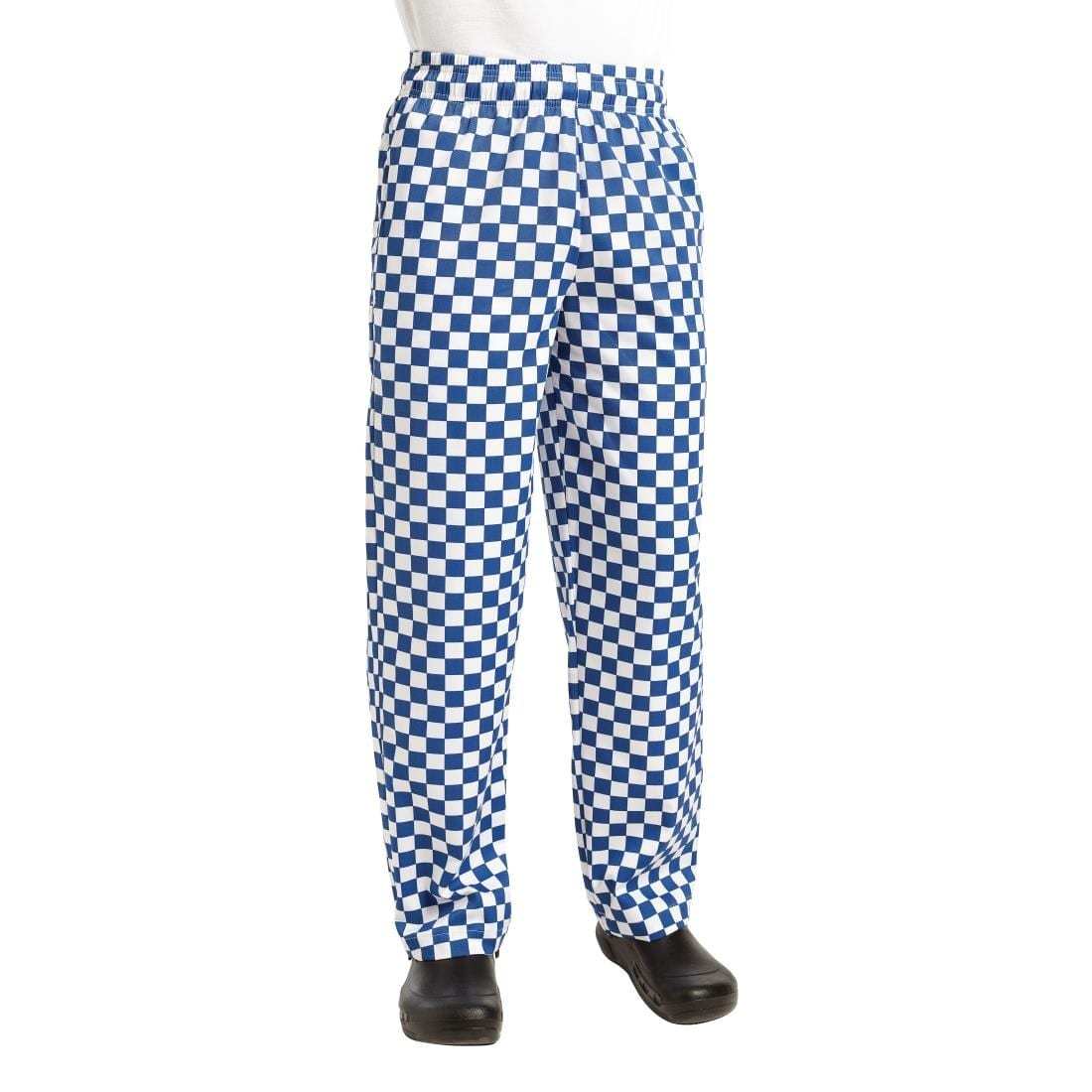 Chef Works Essential Baggy Pants Big Blue Check S
