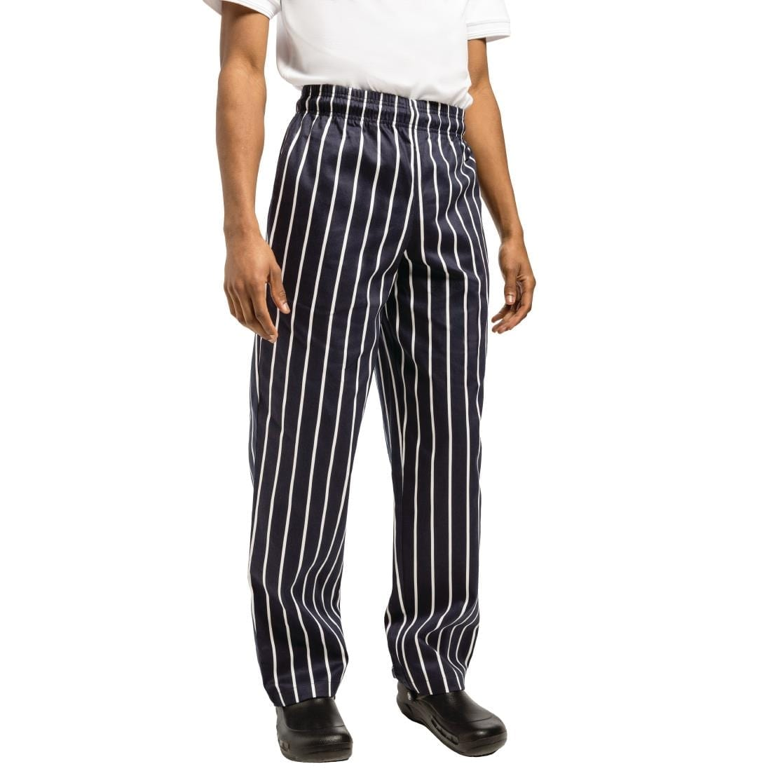 Chef Works Essential Baggy Pant Butchers Stripe L