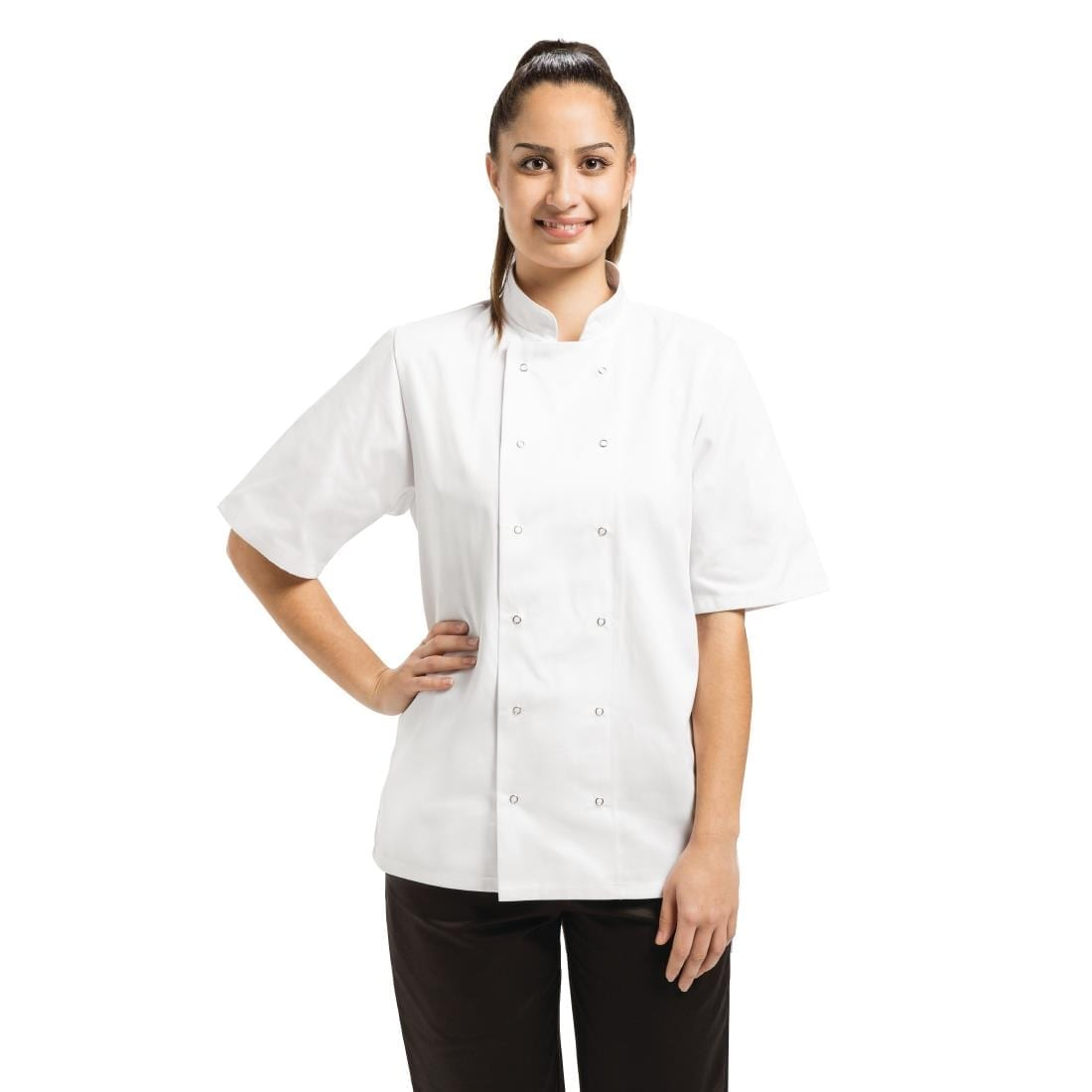 Whites Vegas Unisex Chef Jacket Short Sleeve White – XL