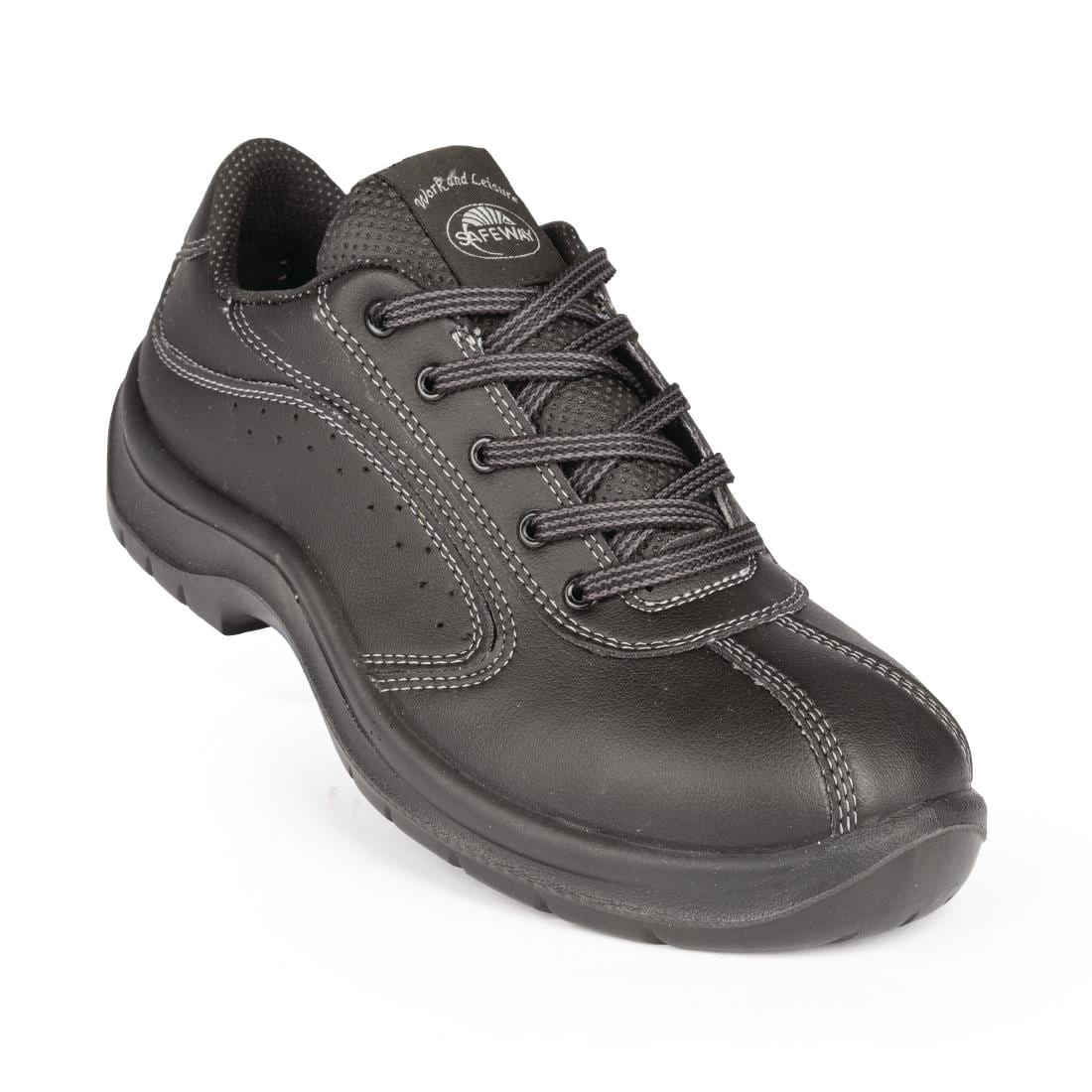 Lites Side Perforated Lace Up Black 38
