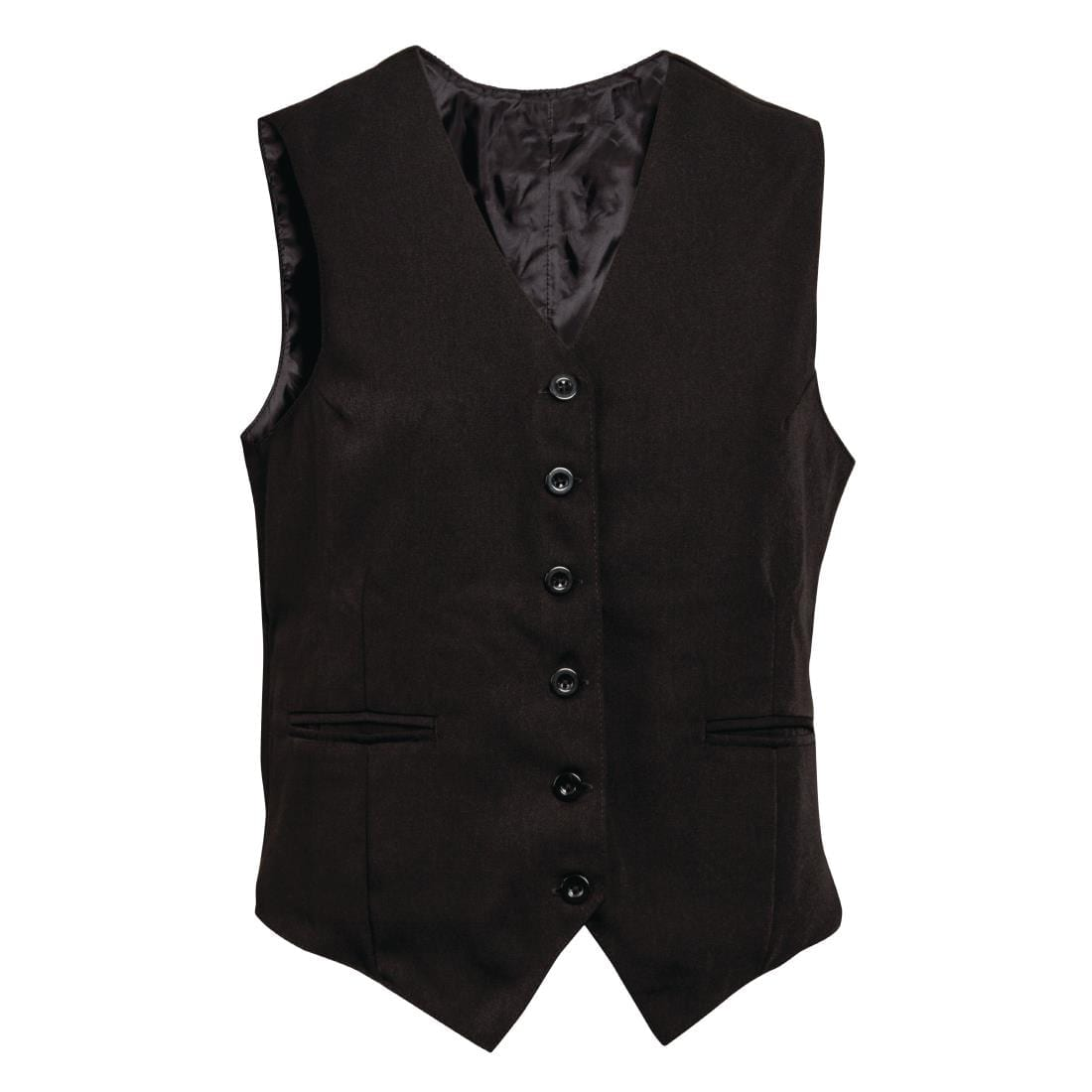 Mens Black Waistcoat with Black Buttons M