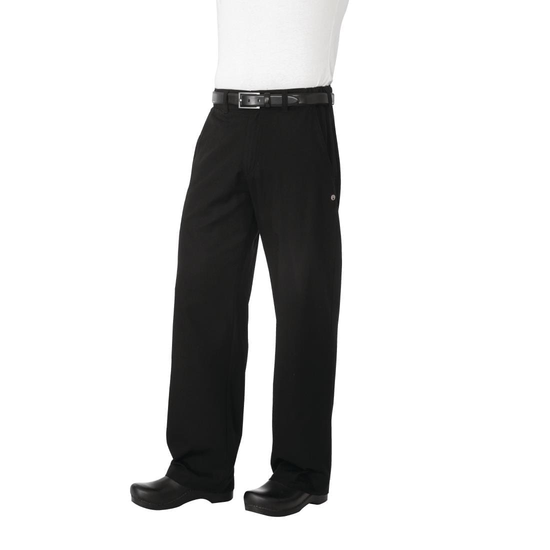 Chef Works Unisex Professional Series Chefs Trousers Black Herringbone L