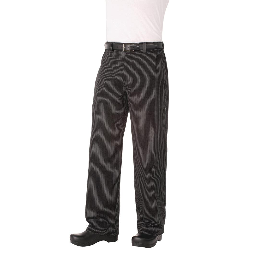 Chef Works Unisex Professional Series Chefs Trousers Grey Herringbone Stripe XS