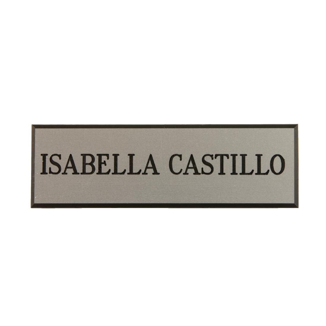 Name Badges Silver