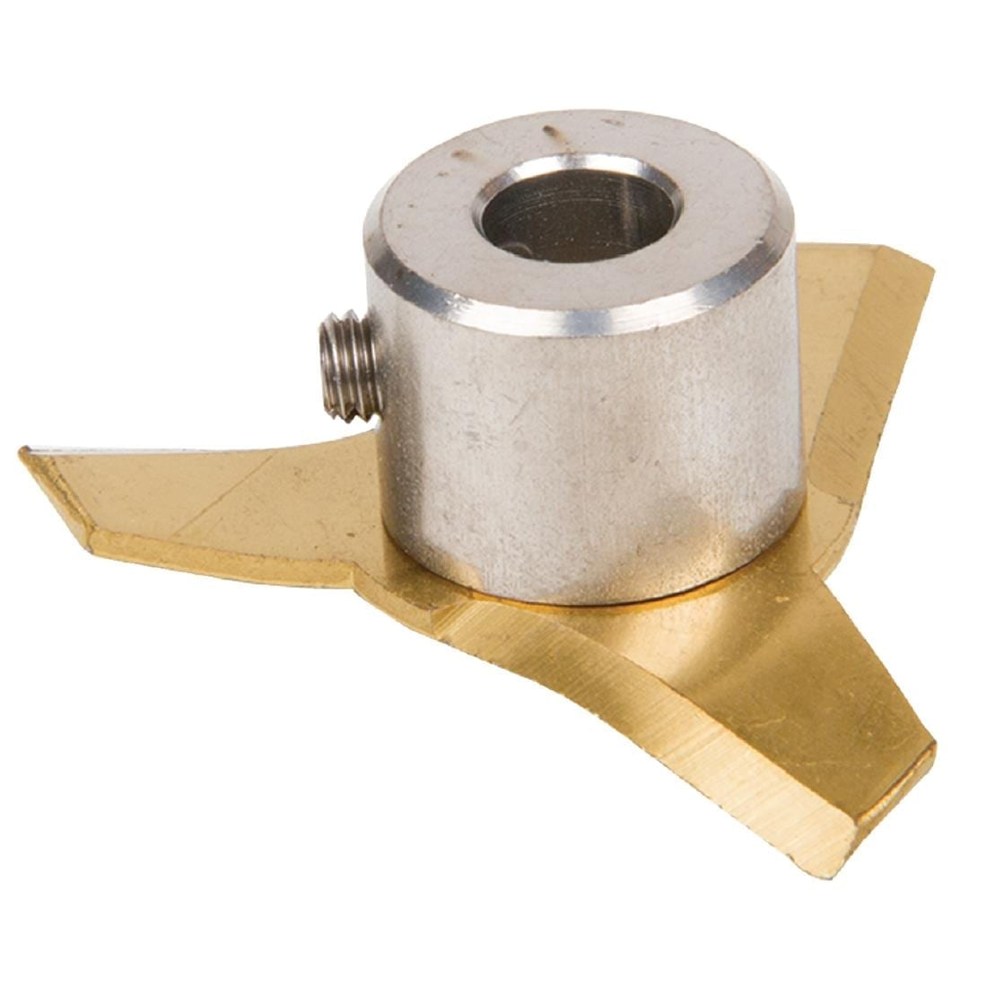 Cutter blade with screw