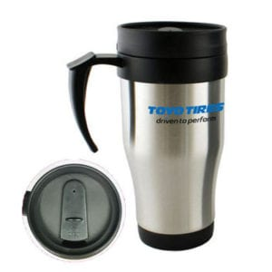 Our 140z Stainless Steel Thermal Travel Mugs offer great branding capacity