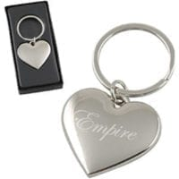 Heart Shaped Metal Keyrings