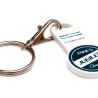 Recycled Trolley Stick Keyrings