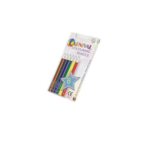 6 Pack Half Size Carnival Colouring Pencils