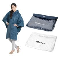 Adjustable Poncho With Pouch