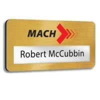 Real Metal Faced Window Name Badges