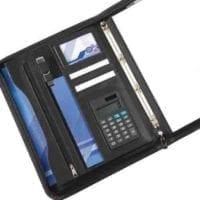 Houghton A4 Deluxe Zipped Folder With Calculator