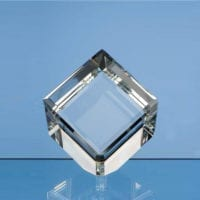 6cm Optical Crystal Bevel Edged Cubes