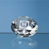 6cm Optical Crystal Clear Diamond Paperweights
