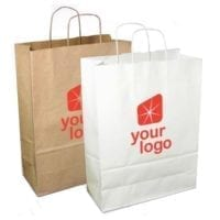 Large Sustainable Boutique Paper Carrier Bags