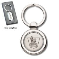 Round Spinning Sapporo Keyrings Laser Engraved