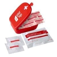 5 Piece First Aid Kit In Plastic Case