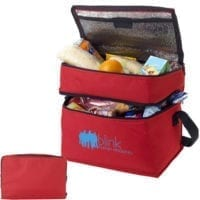Polyester 2 Compartment Cooler Bags