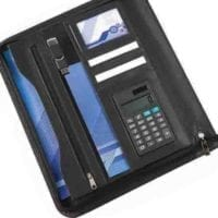 Houghton A4 Deluxe Zipped 16mm Ring Binder With Calculator