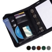 Hampton Leather A5 Deluxe Zipped Ring Binder