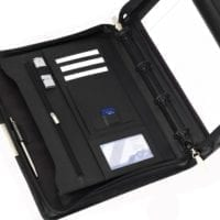 Sandringham Leather Deluxe A4 Zipped Ring Binders